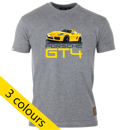 Porsche Cayman GT4 T-Shirt by Joel Clark - Iconic Cloth
