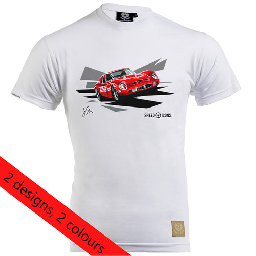 Ferrari 250 GTO Gent's T-Shirt By Joel Clark - iconic-cloth