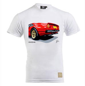 Ferrari 308GTB Gent's T-Shirt by Joel Clark - iconic-cloth