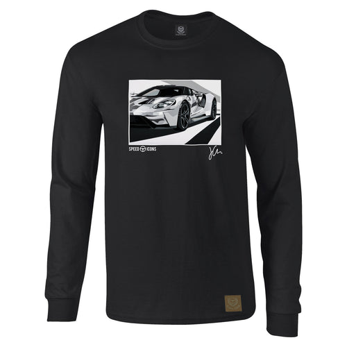 Speed Icons Ford GT 2017 Long-Sleeved Gent's T-Shirt by Joel Clark - iconic-cloth