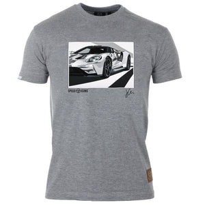 Speed Icons Ford GT 2017 Gent's T-Shirt by Joel Clark - iconic-cloth