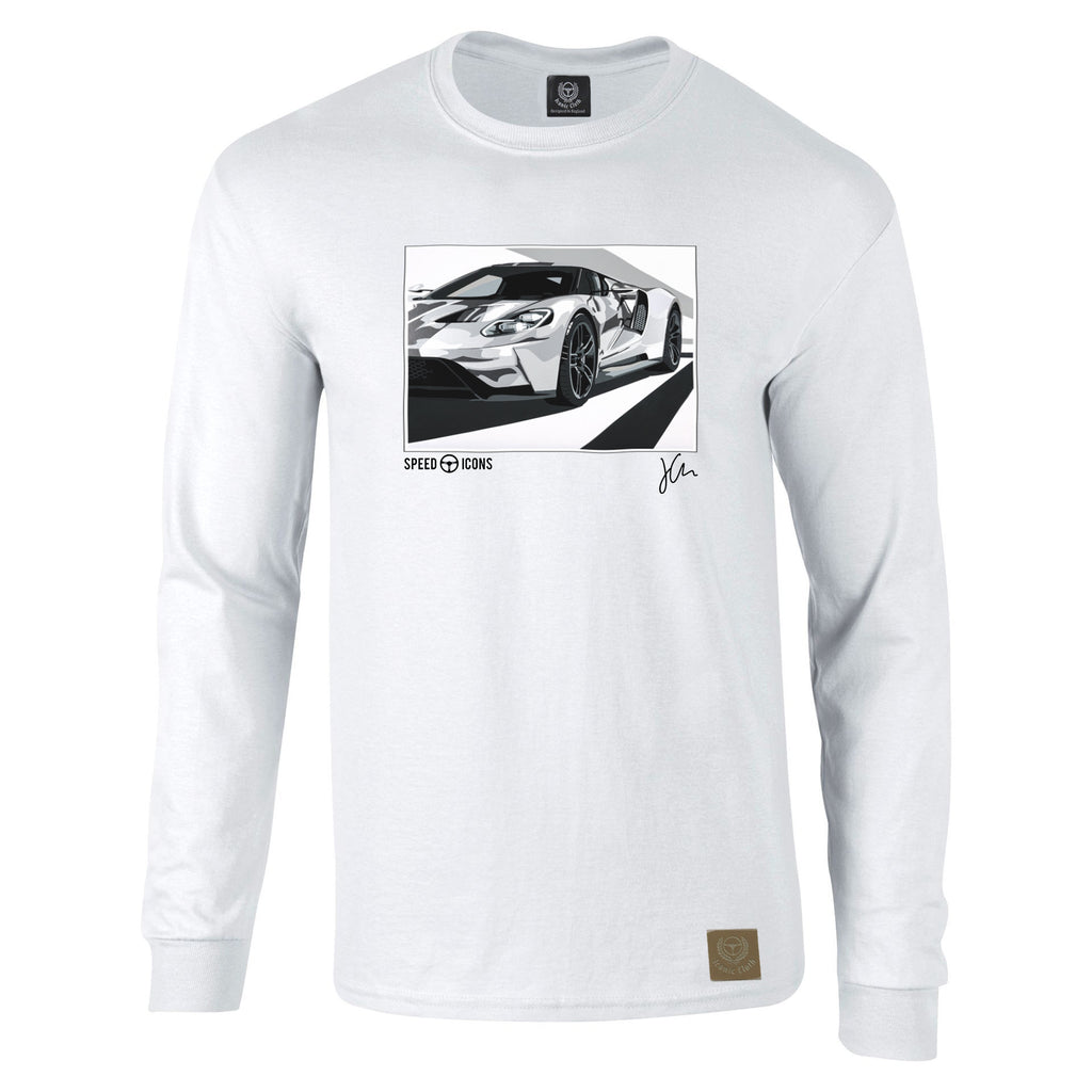 Speed Icons Ford GT 2017 Long-Sleeved Gent's T-Shirt by Joel Clark