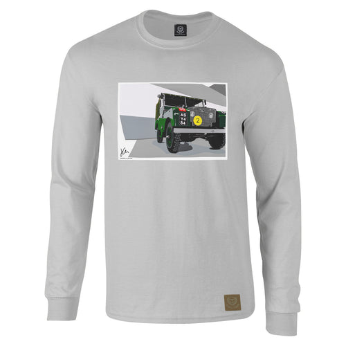 Land Rover Series 1 Long Sleeved T-Shirt by Joel Clark - iconic-cloth