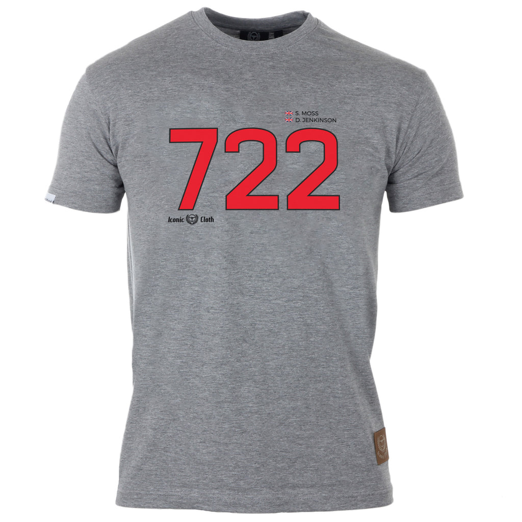 Mercedes Benz '722' 300SLR 1955 Mille Miglia Gent's T-Shirt - Iconic Cloth