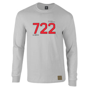 Mercedes Benz '722' 300SLR 1955 Mille Miglia Long Sleeve Gent's T-Shirt - iconic-cloth