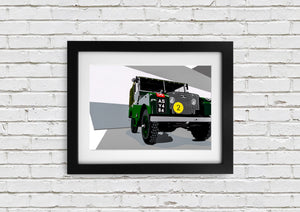 "Signed, Limited Edition Joel Clark Print ""Series 1 Landy"" - iconic-cloth"