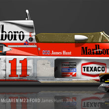 LAST CORNER - MCLAREN M23-FORD FUJI SPEEDWAY 1976 POST-RACE - iconic-cloth