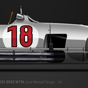 LAST CORNER - MERCEDES-BENZ W196 NÜRBURGRING 1954 - iconic-cloth