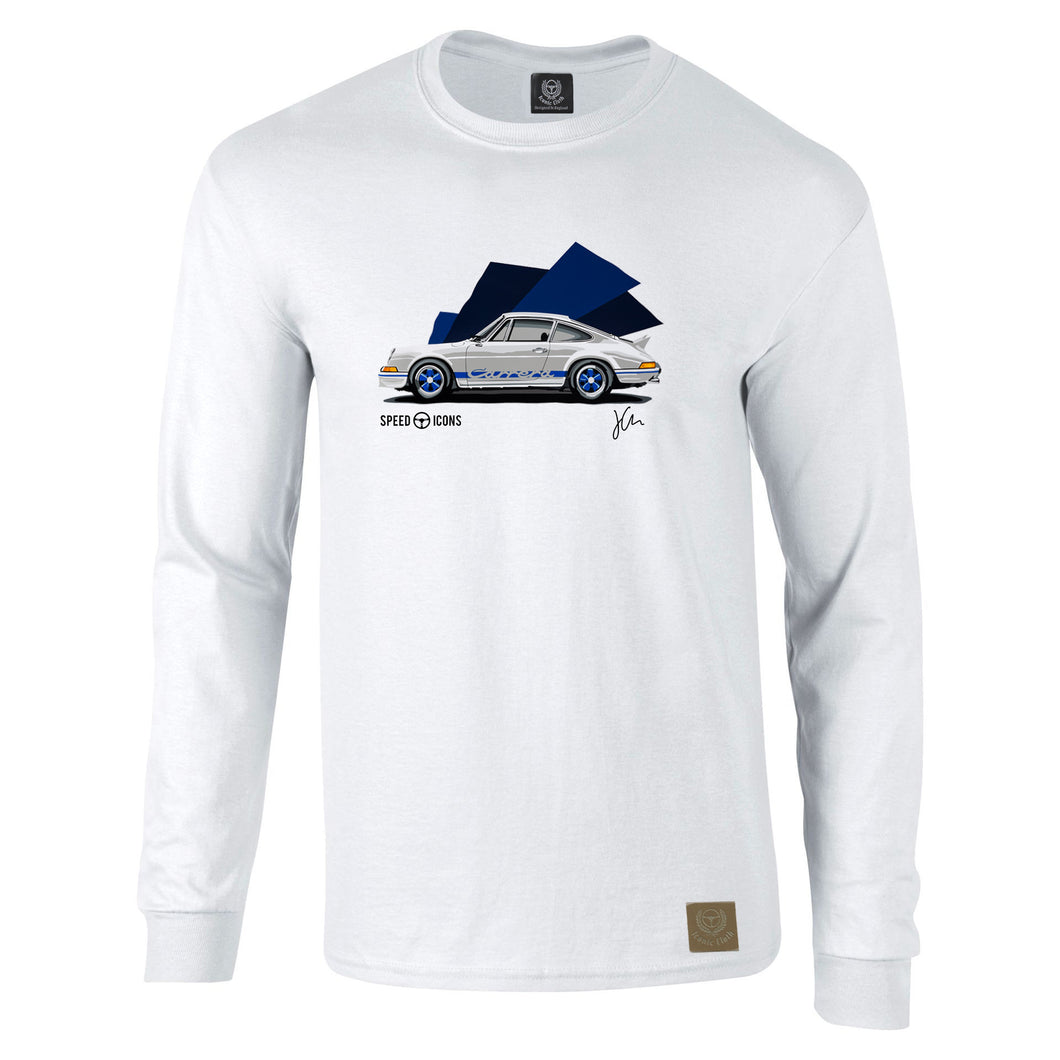 Porsche 2.7RS Gent's Long Sleeved T-Shirt by Joel Clark - Iconic Cloth