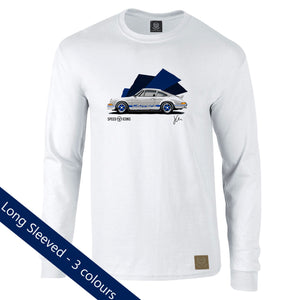 Porsche 2.7RS Gent's Long Sleeved T-Shirt by Joel Clark - iconic-cloth