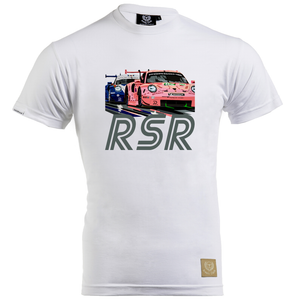 Porsche 911 RSR Pink Pig T-Shirt by Speed Icons - iconic-cloth