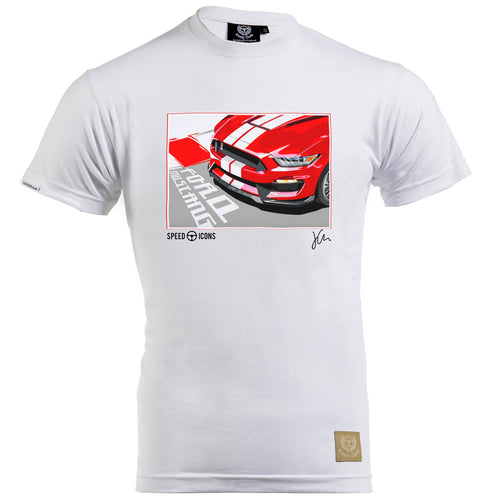Speed Icons Shelby Mustang Gent's T-Shirt by Joel Clark - iconic-cloth