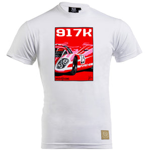 Porsche 917 Salzburg T-Shirt by Joel Clark - Iconic Cloth