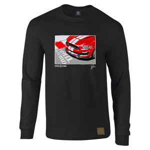 Speed Icons Shelby Mustang Long-Sleeved Gent's T-Shirt by Joel Clark