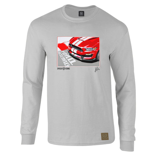 Speed Icons Shelby Mustang Long-Sleeved Gent's T-Shirt by Joel Clark - iconic-cloth