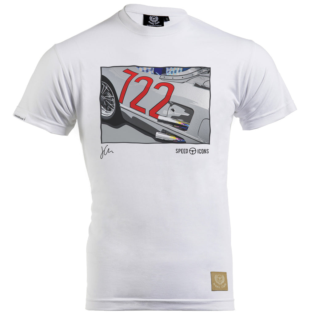 Mercedes Benz '722' 300SLR Gent's T-Shirt by Joel Clark - Iconic Cloth