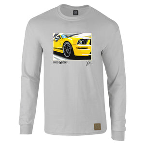 Speed Icons Ford Mustang Long-Sleeved Gent's T-Shirt by Joel Clark