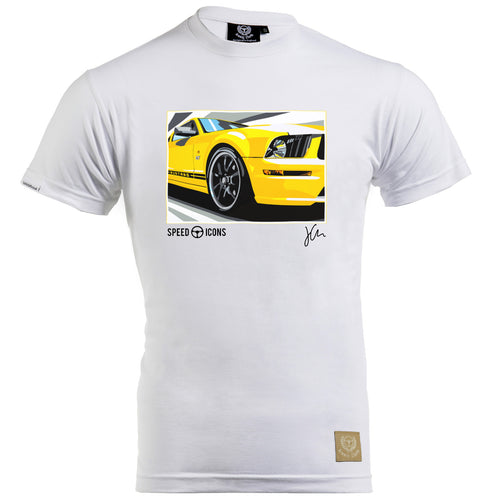 Speed Icons Ford Mustang GT Gent's T-Shirt by Joel Clark - iconic-cloth