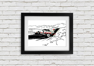 "Signed, Limited Edition Joel Clark Print ""Audi S1"" - iconic-cloth"