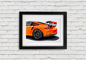 "Signed, Limited Edition Joel Clark Print ""GT3"" - iconic-cloth"