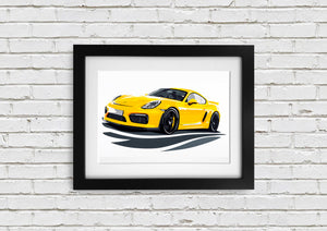 "Signed, Limited Edition Joel Clark Print ""GT4"" - Iconic Cloth"