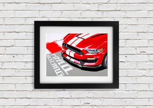 "Signed, Limited Edition Joel Clark Print ""Red Mustang"" - iconic-cloth"