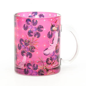 Red Paradise Glass Mug