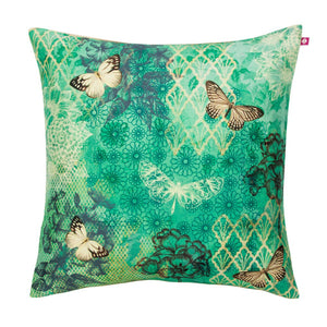 Butterfly Kisses on Blooming Boughs Cushion Cover