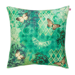 The Butterfly Kisses on Blooming Boughs Cushion Cover by India Circus