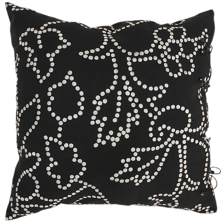 Gunjan Dot Cushion Cover Black