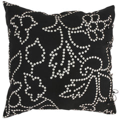 The Gunjan dot patterned cushion cover black by No-Mad 97% India