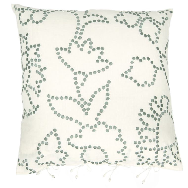Gunjan Dot Cushion Cover Blue/Turquoise