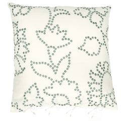 The Gunjan dot patterned cushion cover blue/turquoise by No-Mad 97% India