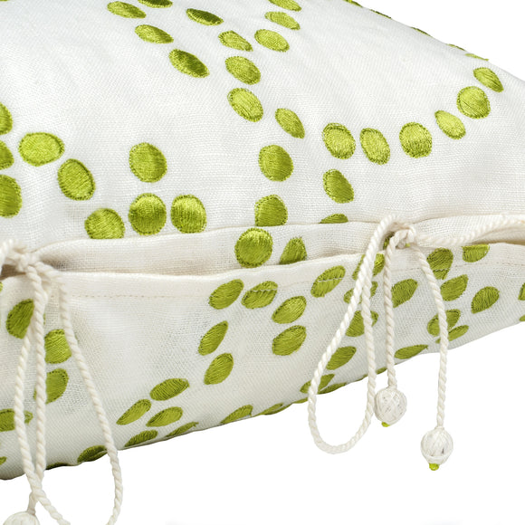 Gunjan Dot Cushion Cover Green
