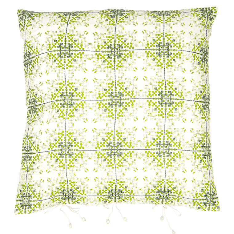 Isayu Grid Cushion Cover Green