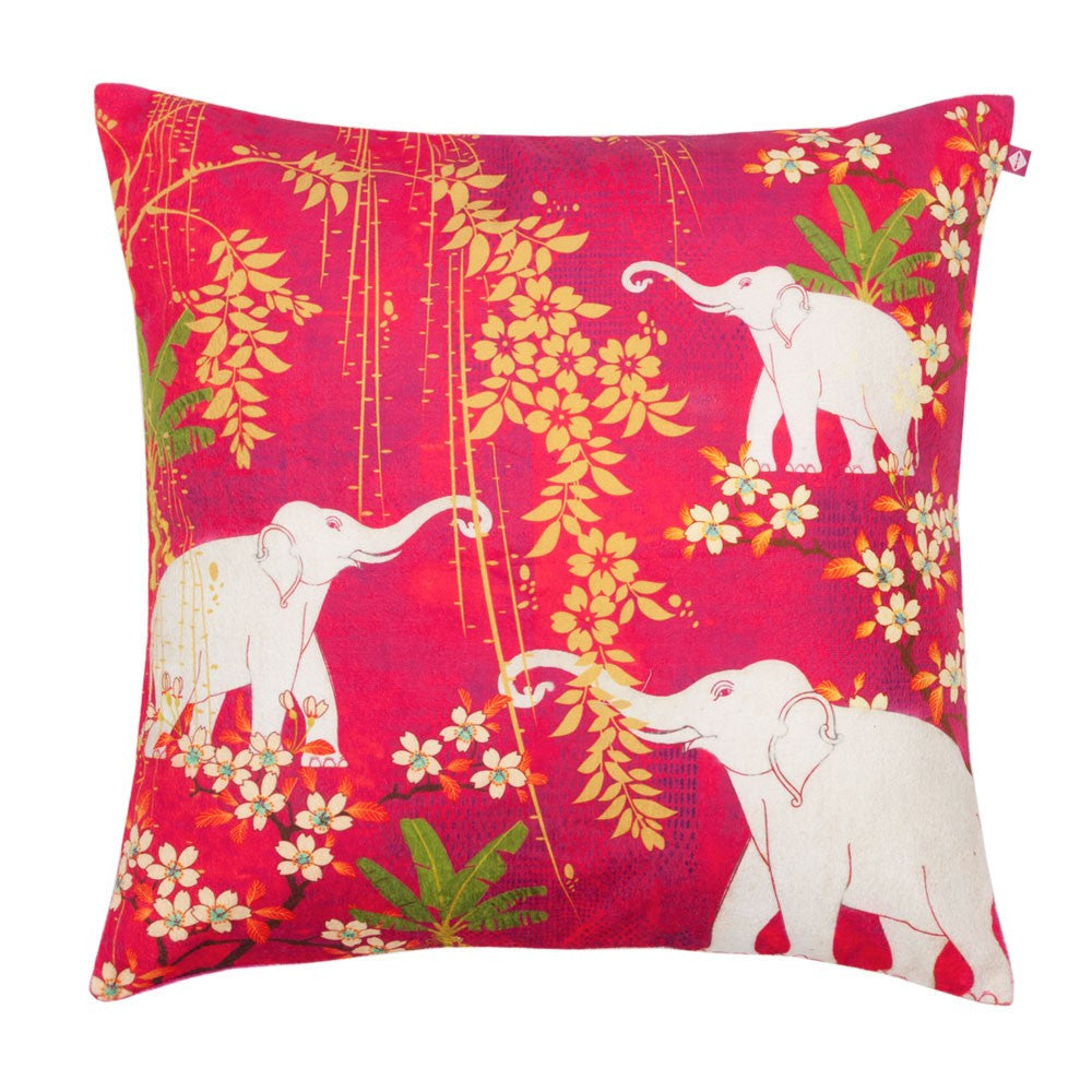 Scarlet Tusk Cushion Cover