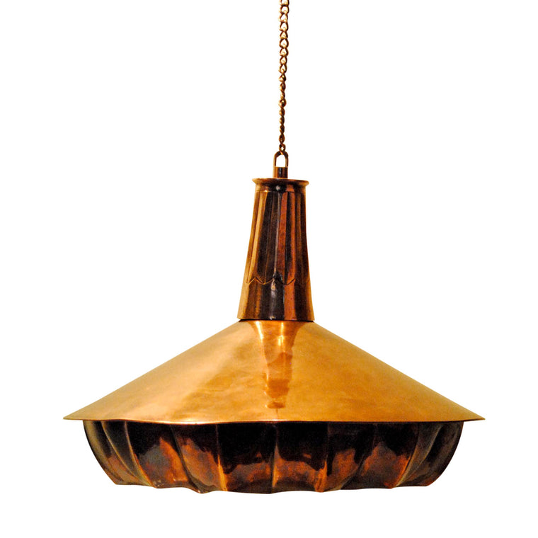 Pintuck Pendant Drop Lamp Copper