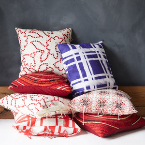 Gunjan Dot Cushion Cover Red