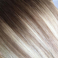 Balayage Mixed Light Blonde T4-18/60 Russian Flat Silk Weft Hair Extension