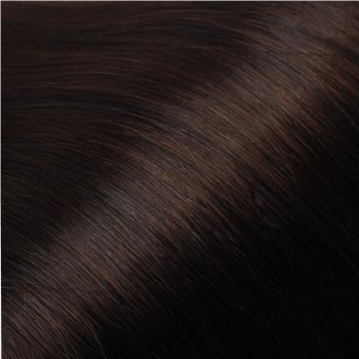 Dark Brown #2 Russian Flat Silk Weft Hair Extension