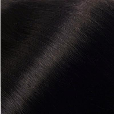 Off Black #1B Russian Flat Silk Weft Hair Extension
