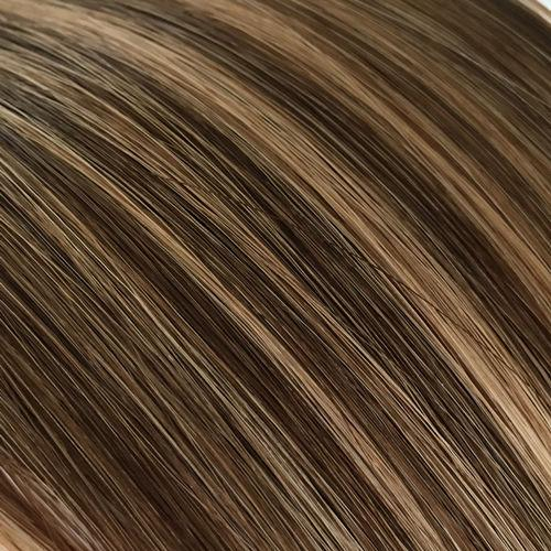 Piano Mixed Brown #P4/27 Flat Silk Weft Hair Extension