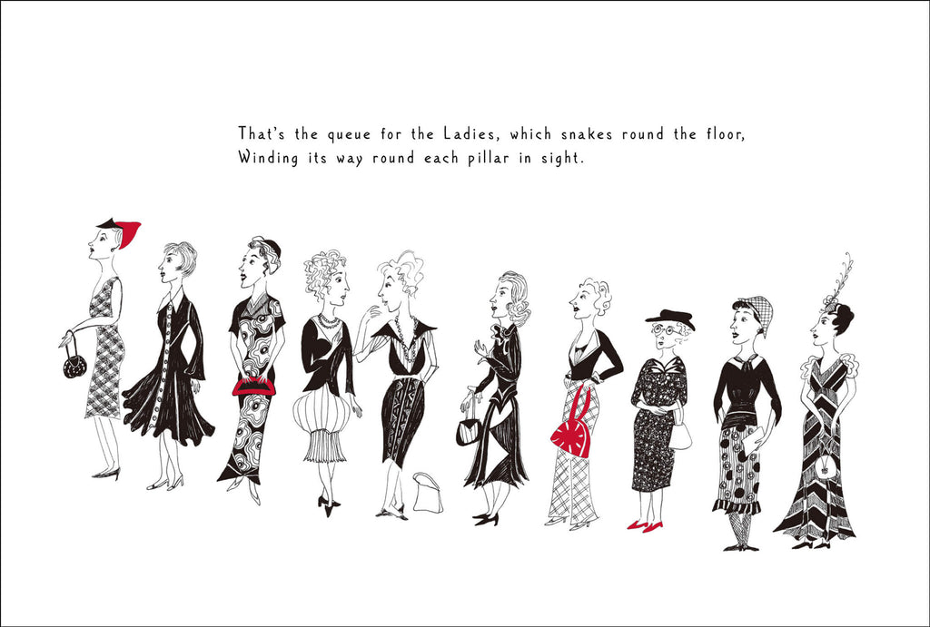 Queue for the Ladies - signed print