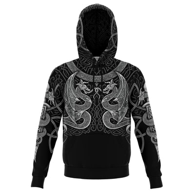 VIKING DRAGONS Silver - Sweat à Capuche 3D