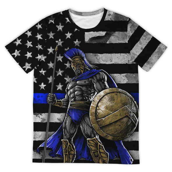 BLUE LINE WARRIOR - Tshirt 3D