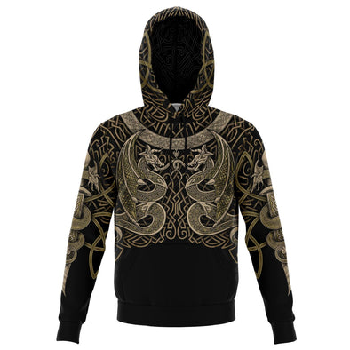 VIKING DRAONS Gold - Sweat à Capuche 3D