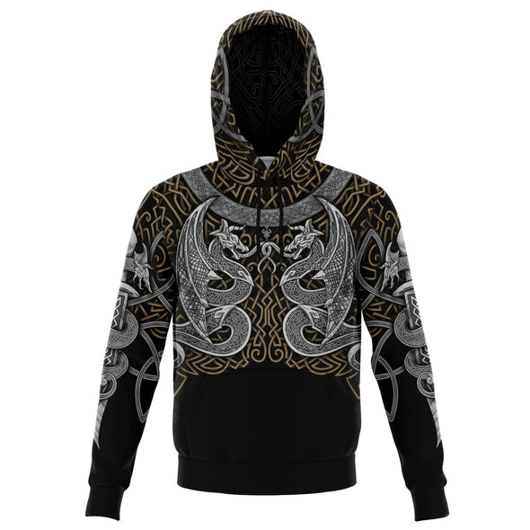 VIKING DRAGONS Gold Silver - Sweat à Capuche 3D