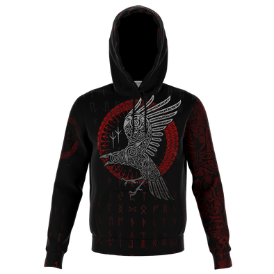 VIKING DARK RAVEN - Sweat à Capuche 3D