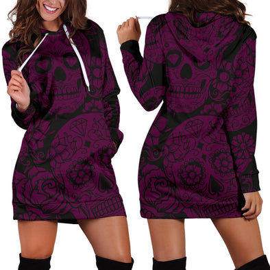 PURPLE SUGAR SKULL - Robe Sweat à Capuche