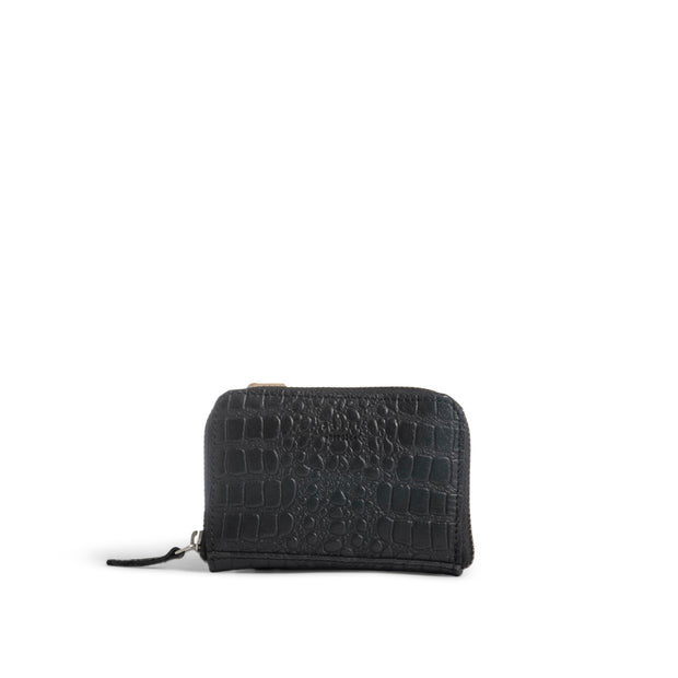 Still Nordic Evie Small Wallet w/croco Small items Black Croco